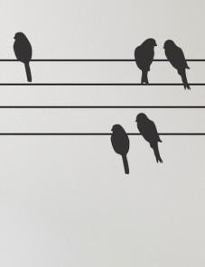 gallery-75208-Birds-on-a-Wire-Wallsticker